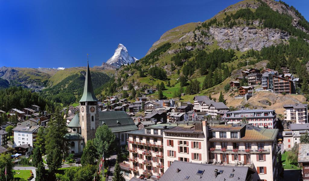 En Suiza Zermatt es uno de los lugares favoritos para las vacaciones.